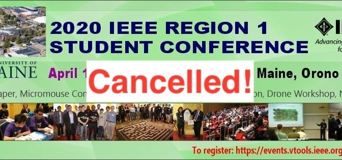 2020 IEEE R1 Student Conference Cancelled!